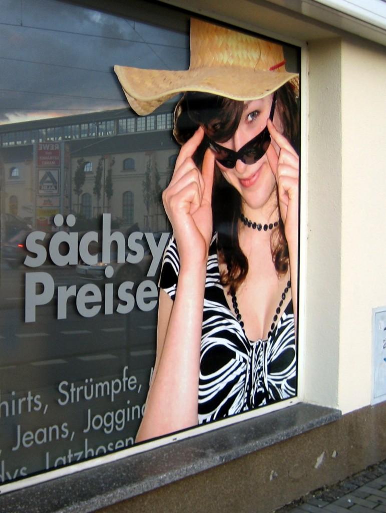 Sächsy Preise auf der Leipziger Straße.