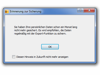 Dialogfeld der DUDEN-Bibliothek, Version 5.1.0.0. Screenshot: KM, 2013.