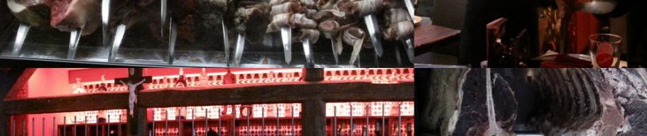 Aufgespießt und abgehangen: ein Muss für Fleischfetischisten.