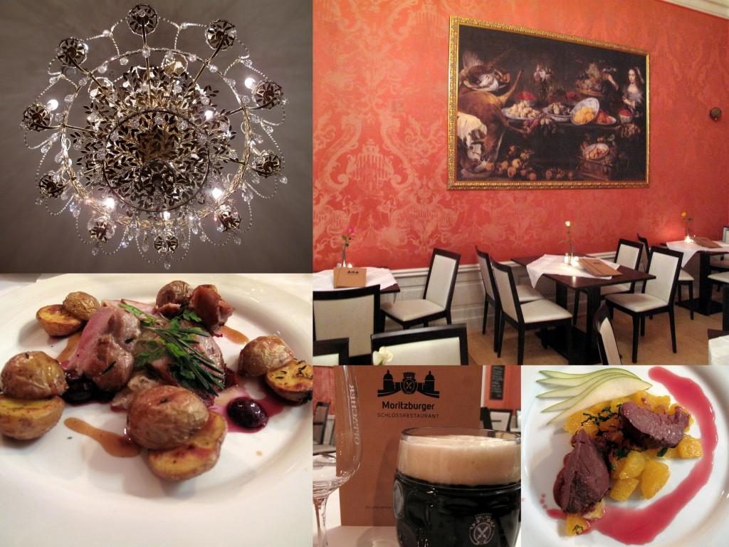 Im Moritzburger Schlossrestaurant trifft barocke Pracht auf moderne Eleganz. Fotos: Kathrin Muysers