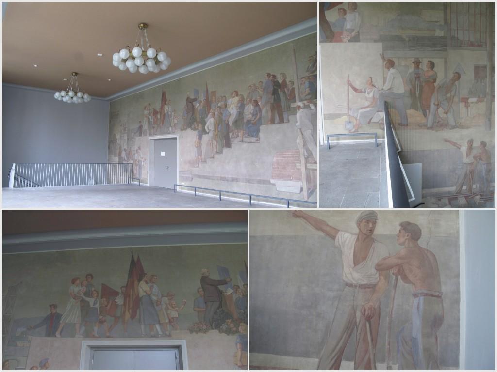 Alfred Hesse und Erich Gerlach, »Wilhelm Pieck spricht zu den Studenten« (1953/54), Wandgemälde im Potthoff-Bau, Dresden.