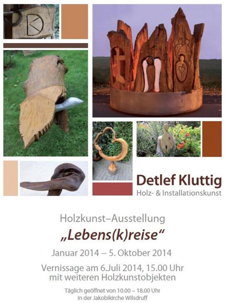 Plakat zu Detlef Kluttigs Ausstellung Lebensk(r)eise.